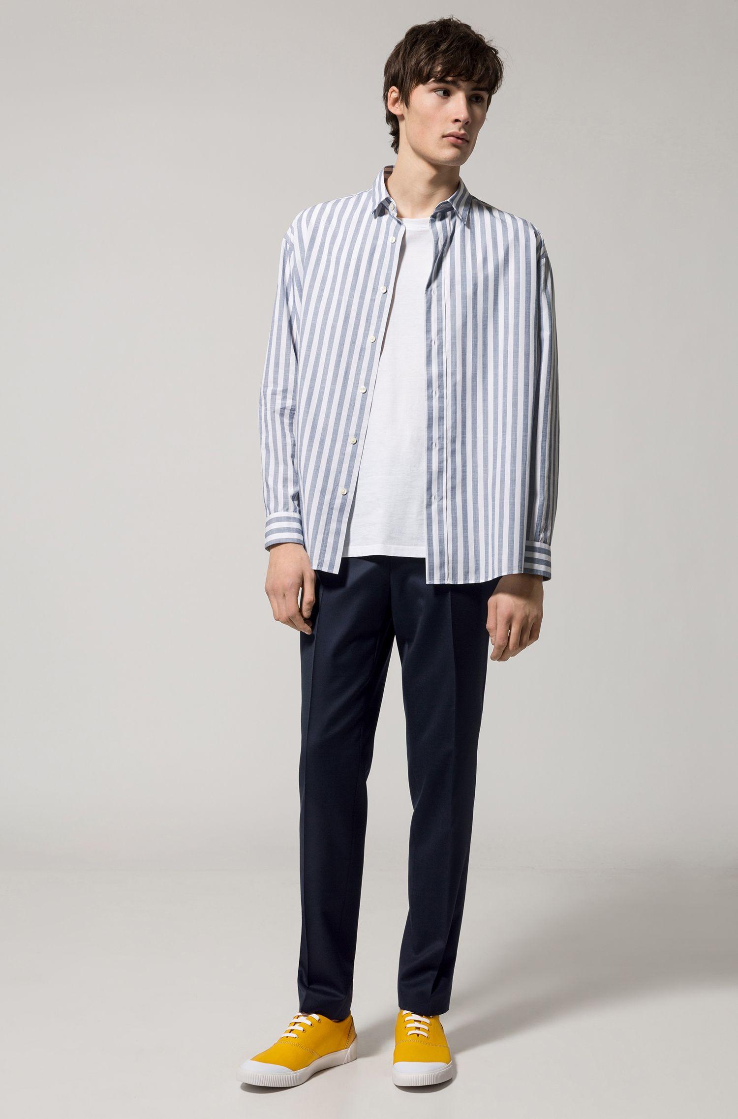 Extra Slim-Fit Hose aus pigmentgefärbter Schurwolle, Dunkelblau