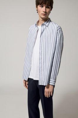 Men's Clothing Kind-Hearted Hugo Boss Hemd Neu Gr 40 Leichtes Grün Fein Kariert Shirts