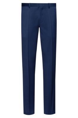Extra Slim-Fit Hose aus pigmentgefärbter Schurwolle, Blau