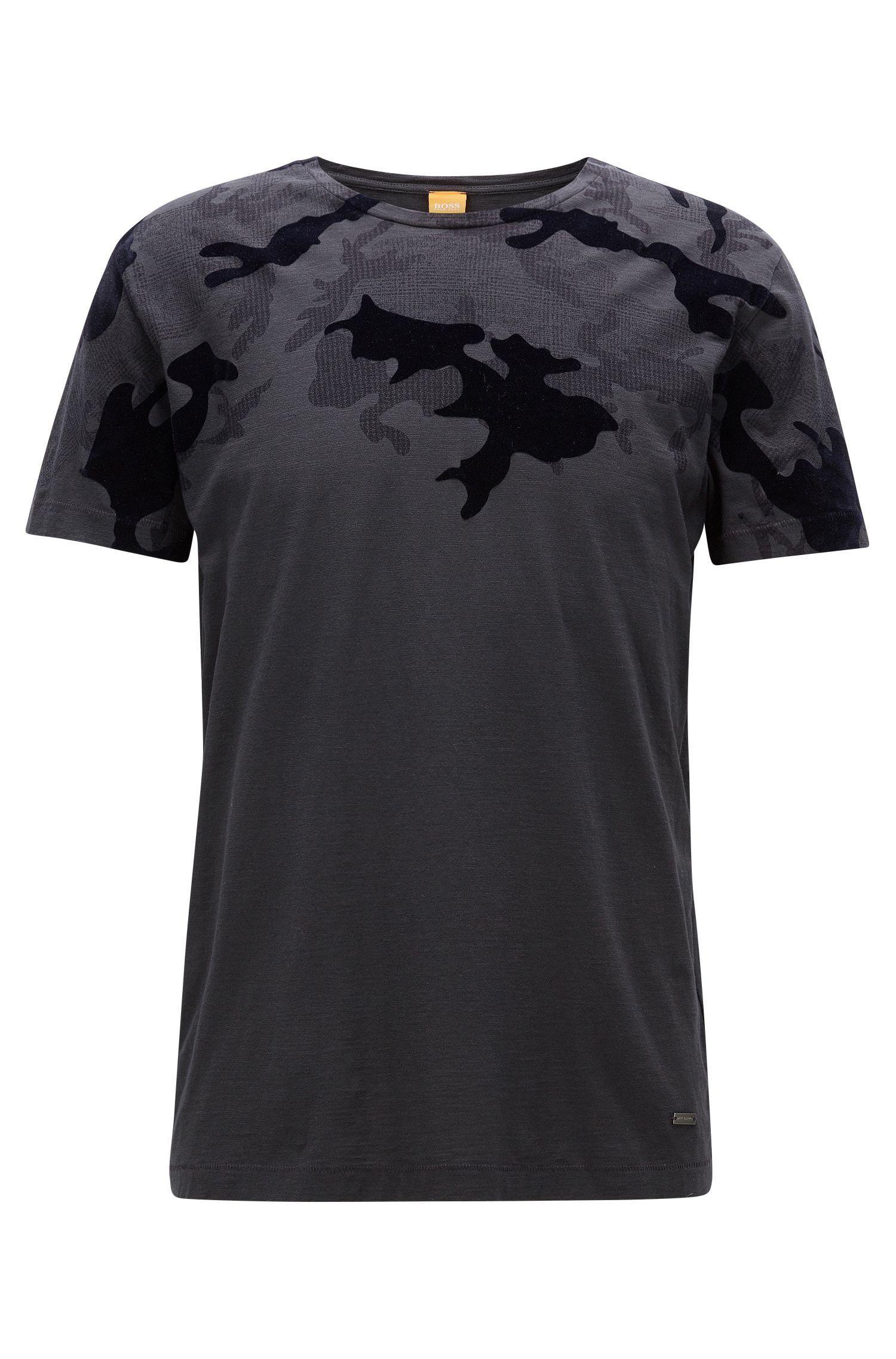 Bedrucktes Regular Fit T-Shirt aus strukturiertem Baumwoll-Jersey