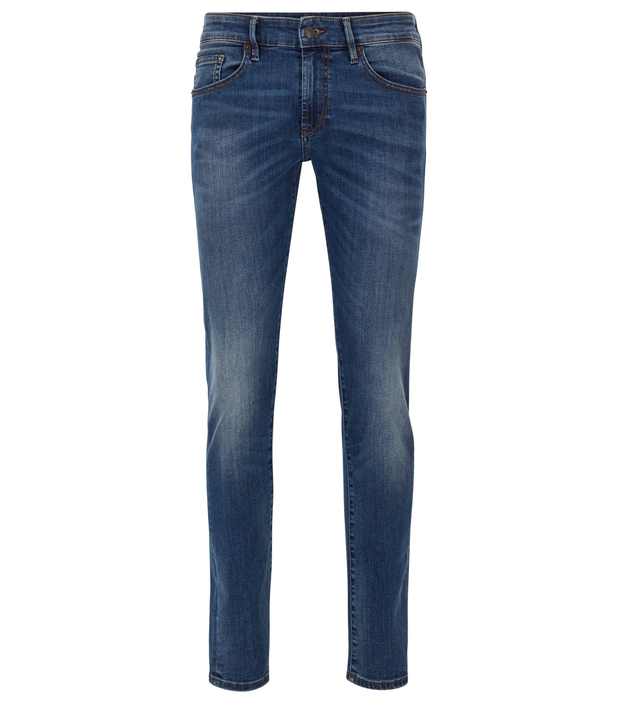 Skinny-fit jeans van super-stretchdenim, Blauw