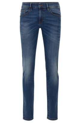 Skinny-fit jeans van super-stretchdenim, Blauw