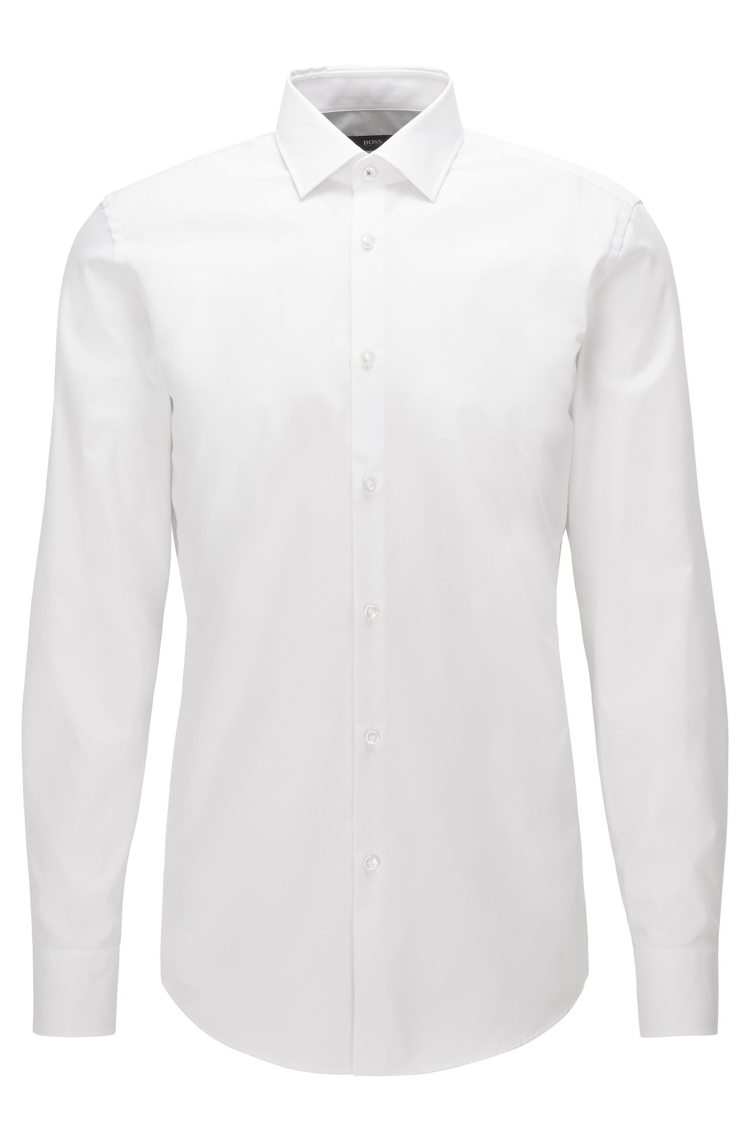Slim-fit shirt in easy-iron cotton