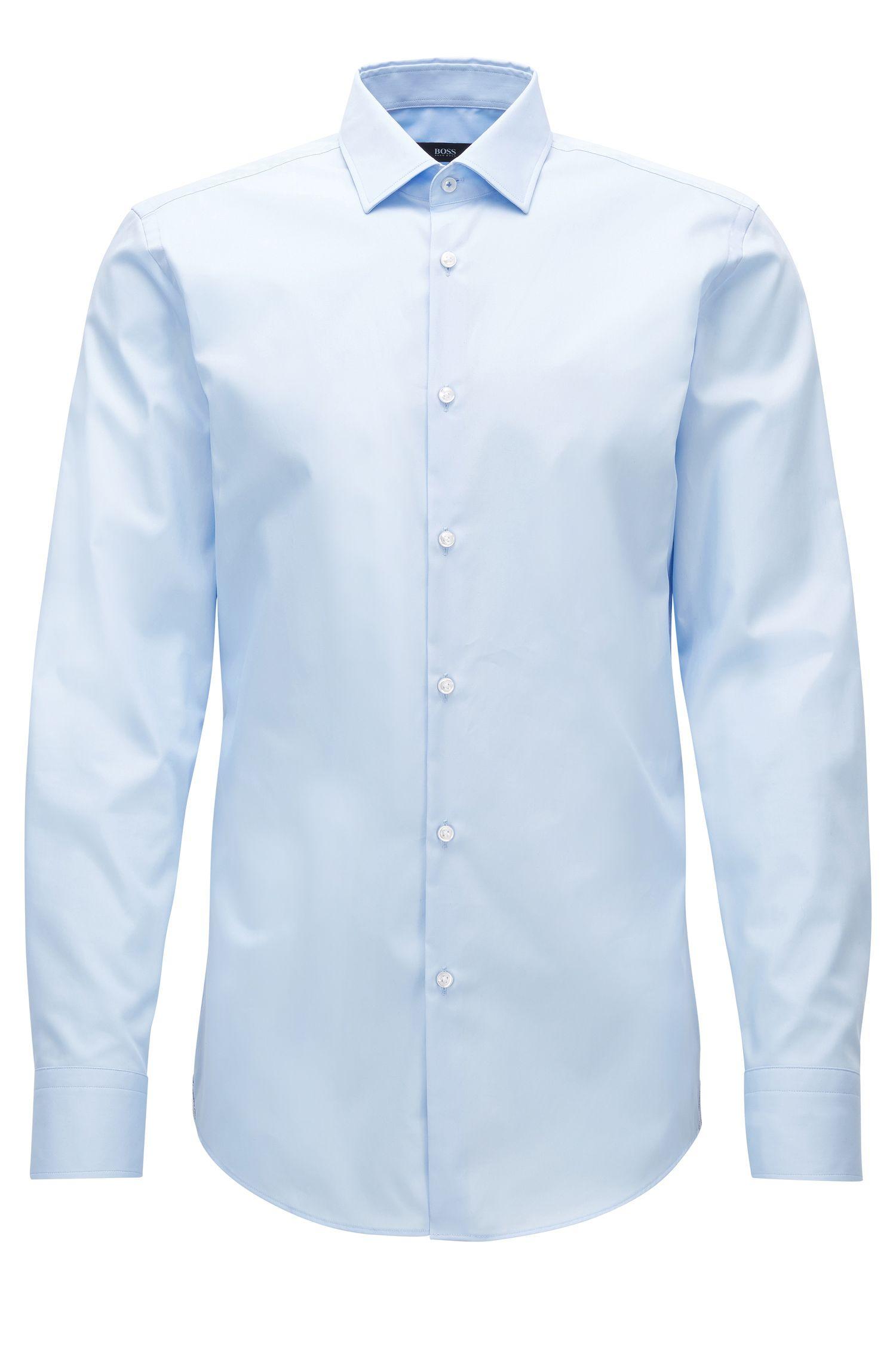 Camisa slim fit en algodón fácil de planchar