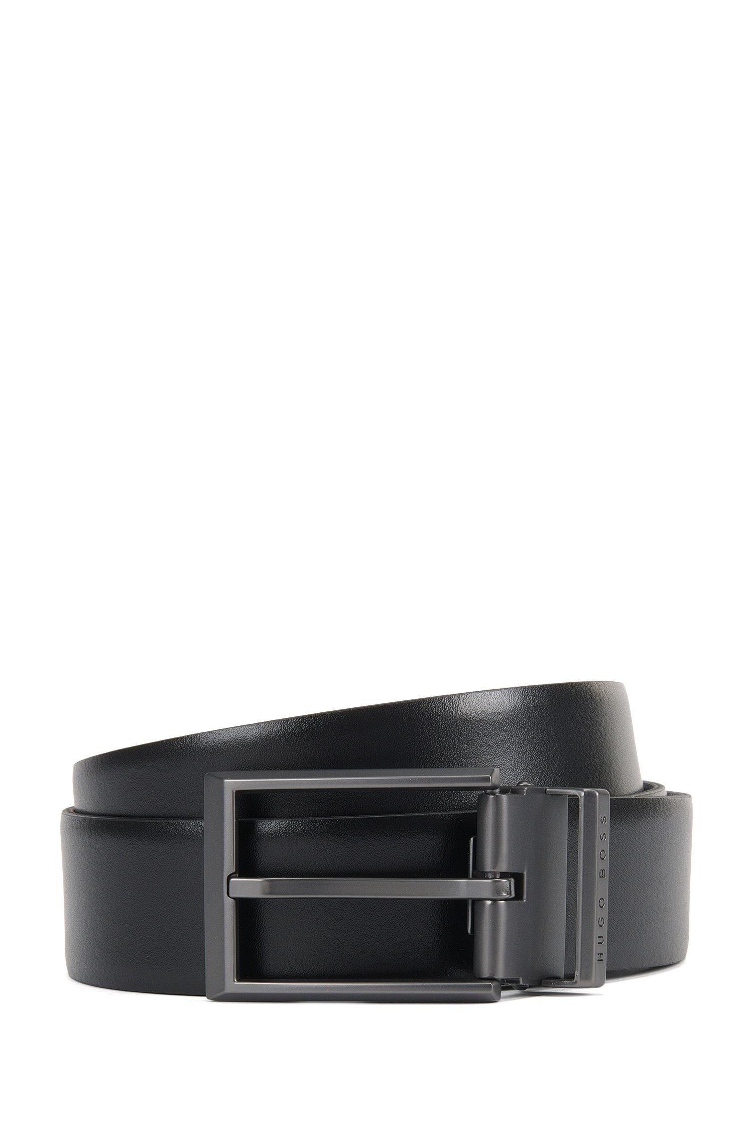 Cinturón reversible en piel lisa