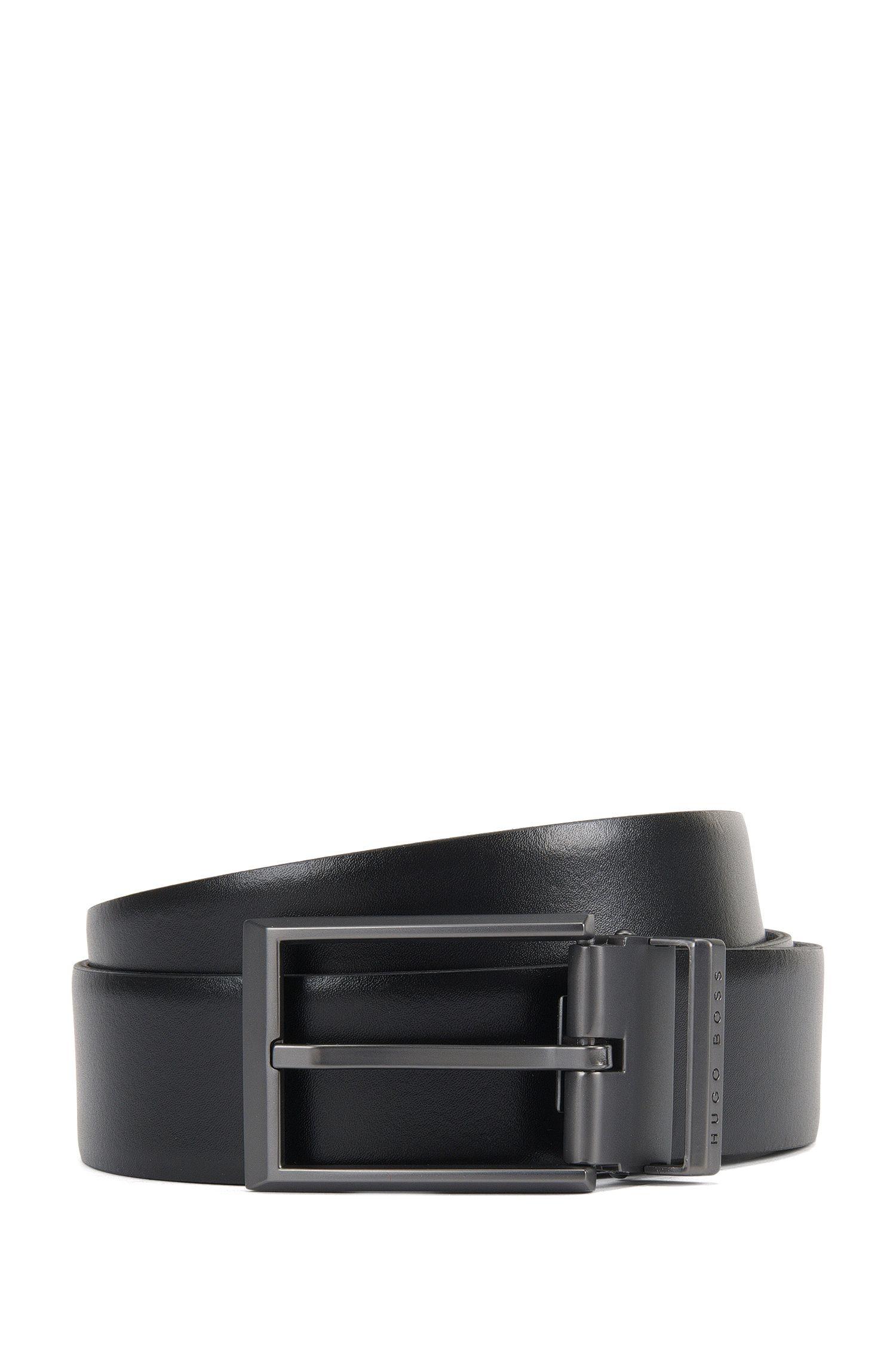 Cintura reversibile in pelle liscia