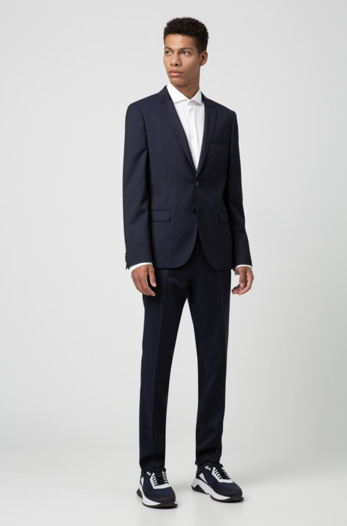 Extra-slim-fit virgin-wool jacket with piping details