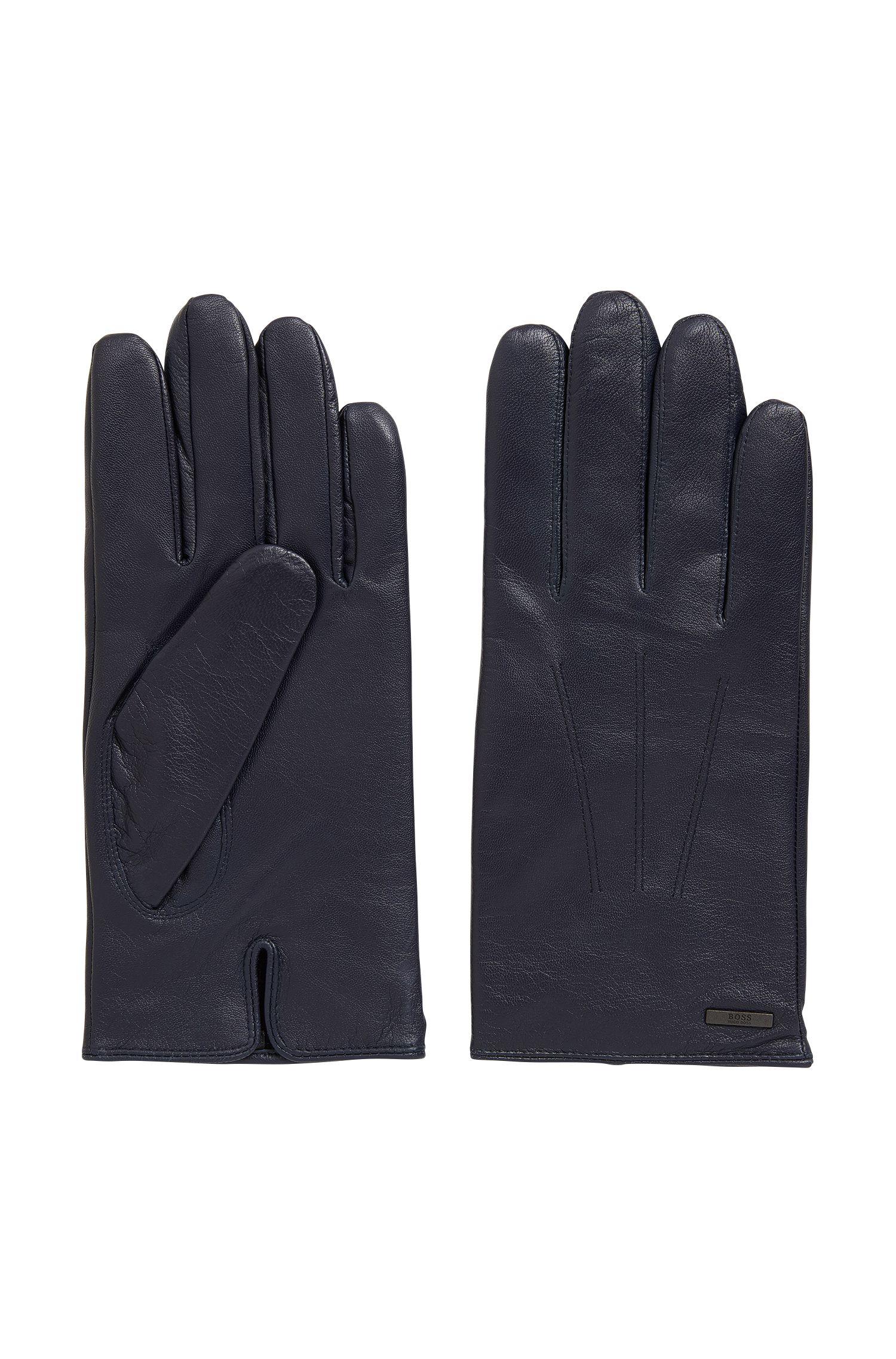 Handschuhe aus Nappaleder mit geteilten Bündchen