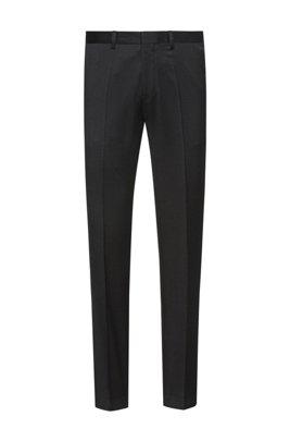 Extra-slim-fit trousers in virgin-wool twill, Black