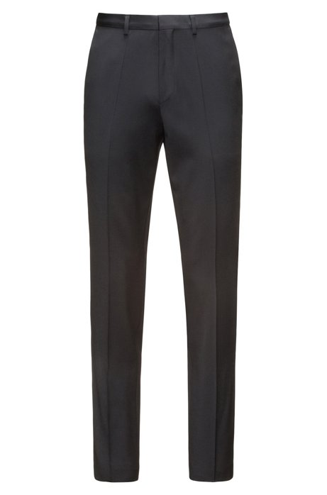 3dda3421712 HUGO - Extra-slim-fit trousers in virgin wool twill with natural stretch