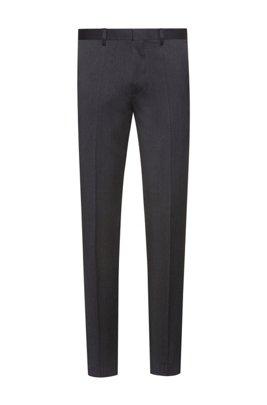 Extra-slim-fit trousers in virgin-wool twill, Dark Grey
