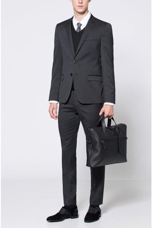 Hugo Boss - Pantalones extra slim fit en sarga de lana virgen con elástico natural - 2
