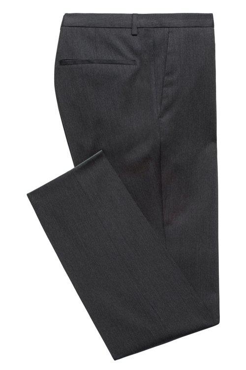 Hugo Boss - Pantalones extra slim fit en sarga de lana virgen con elástico natural - 3