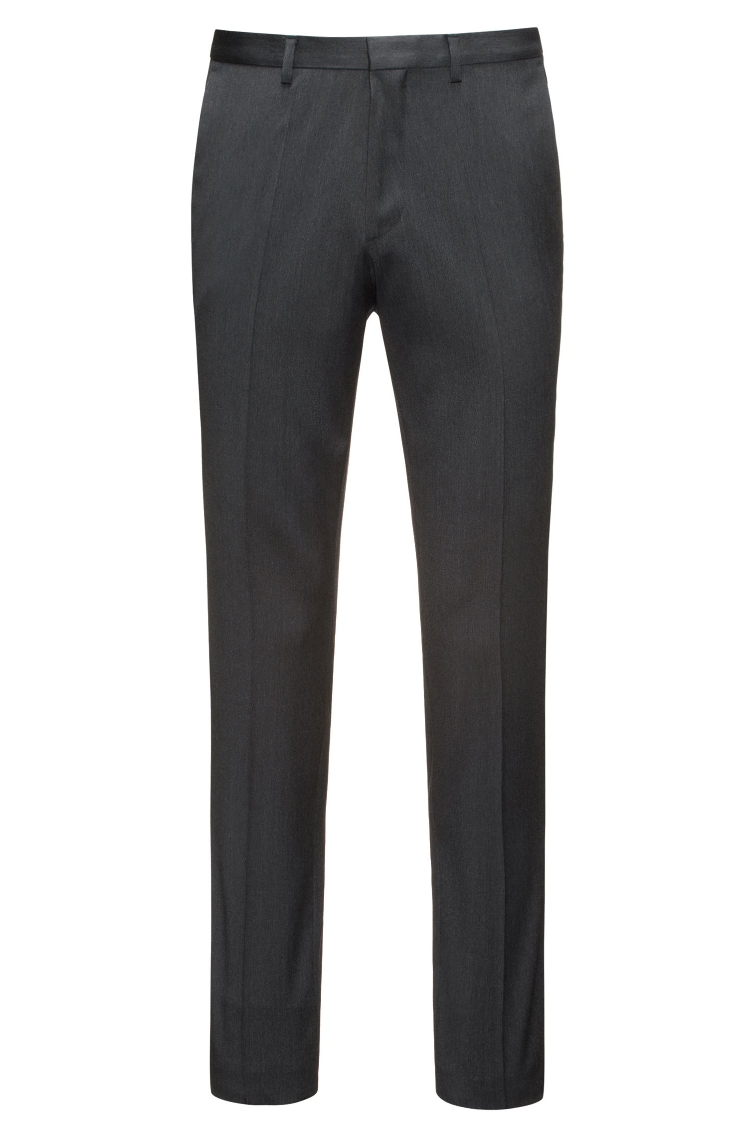 Extra-slim-fit trousers in virgin wool twill with natural stretch