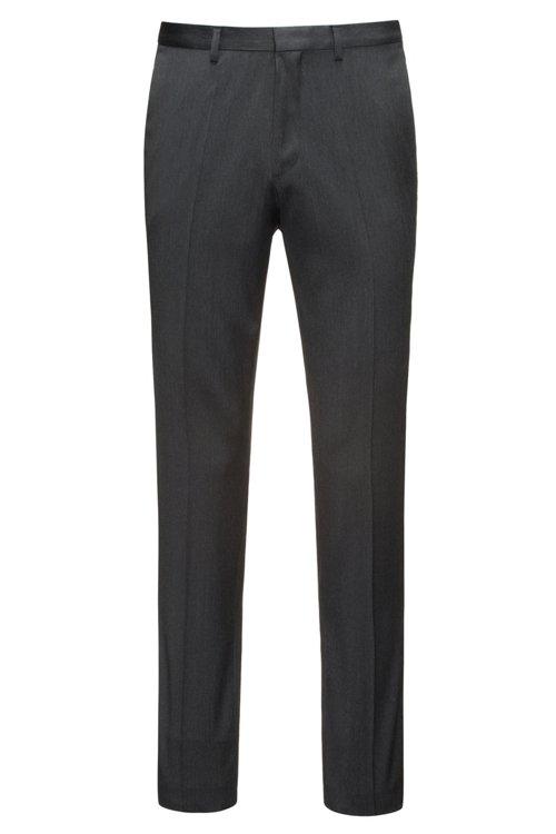 Hugo Boss - Pantalones extra slim fit en sarga de lana virgen con elástico natural - 1