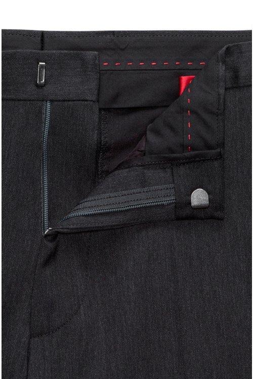 Hugo Boss - Pantalones extra slim fit en sarga de lana virgen con elástico natural - 4