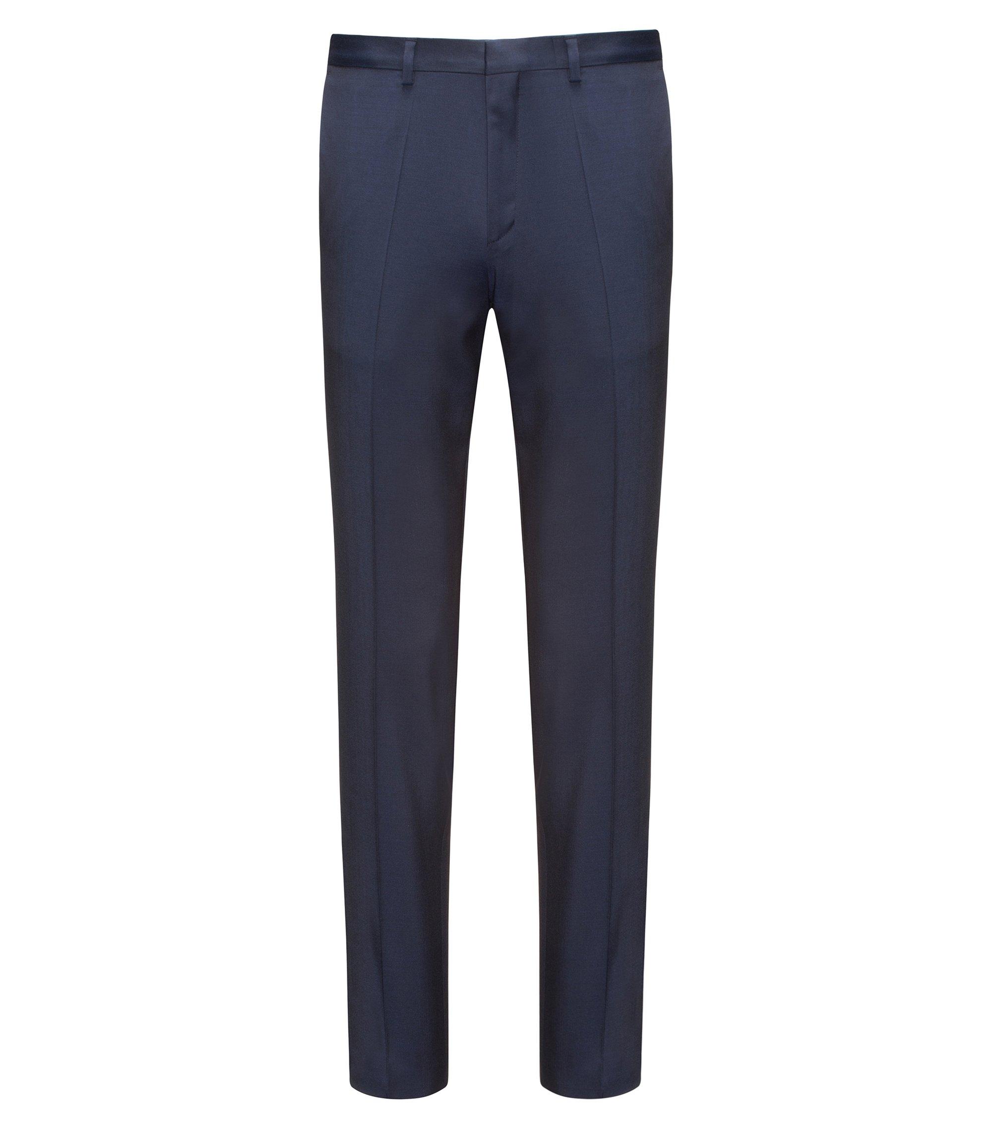 Extra Slim-Fit Hose aus natürlich elastischem Schurwoll-Twill, Dunkelblau