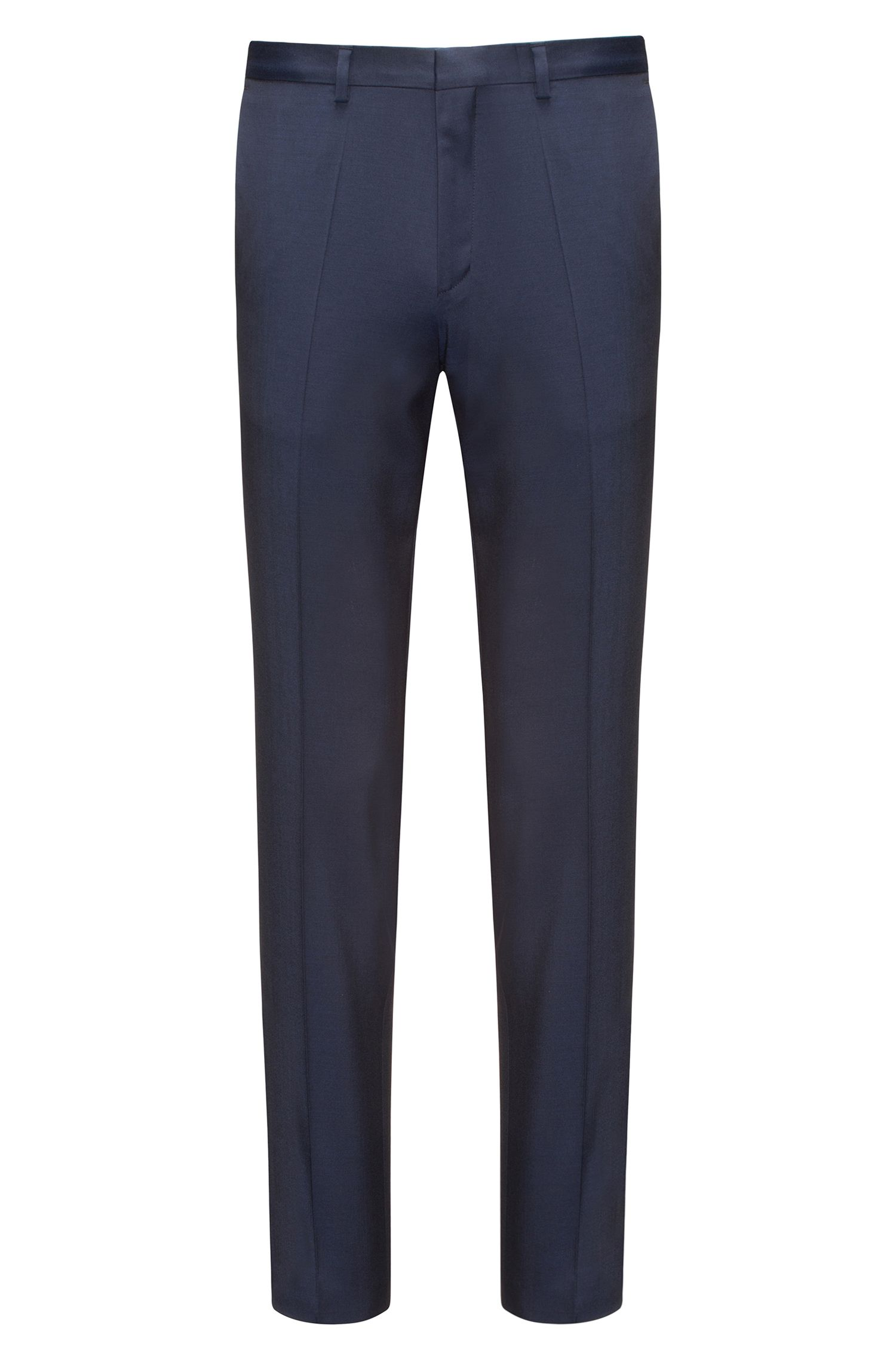 Pantalon Extra Slim Fit en twill de laine vierge naturellement extensible