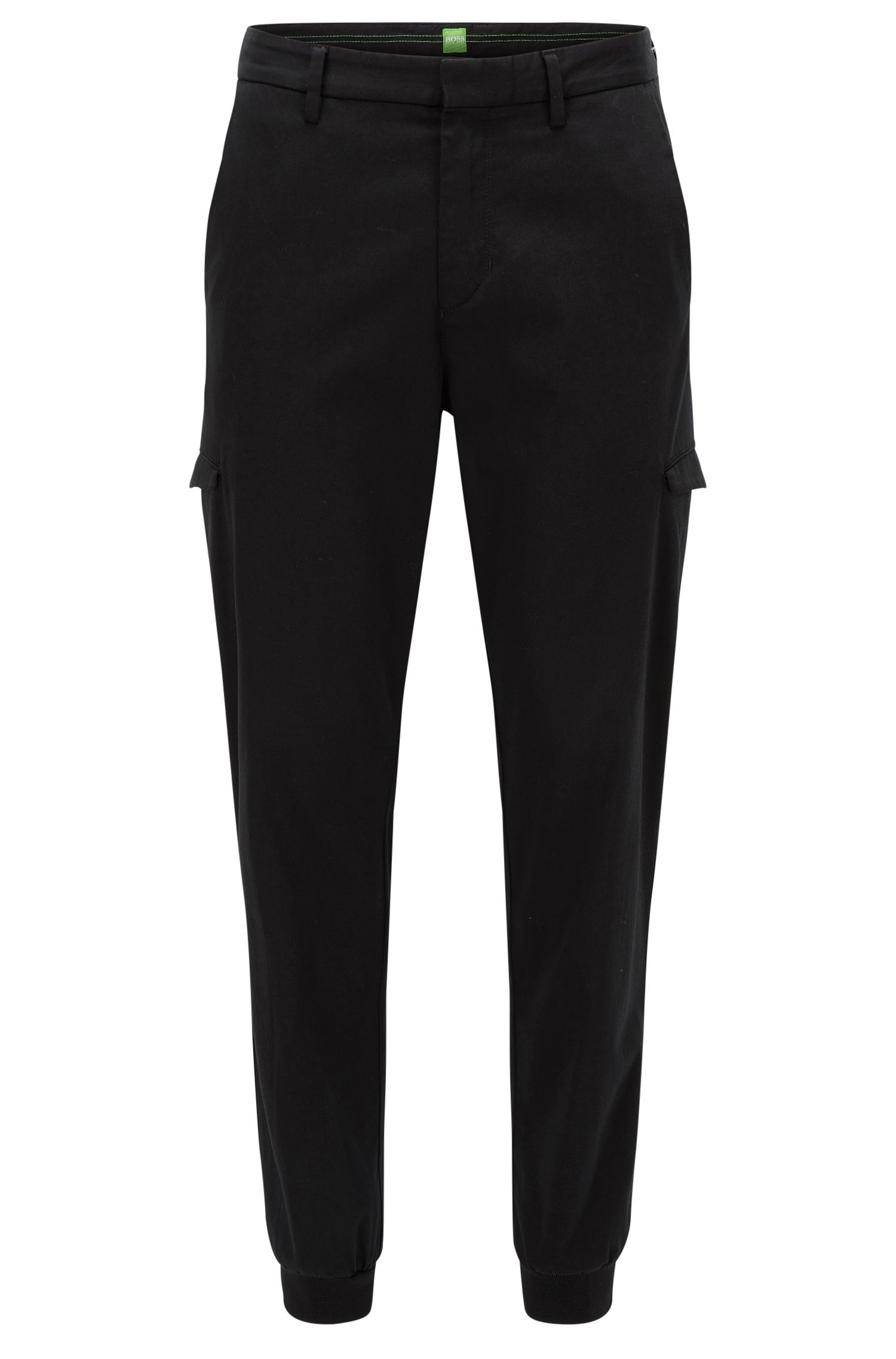 Pantalón cargo slim fit en mezcla de algodón
