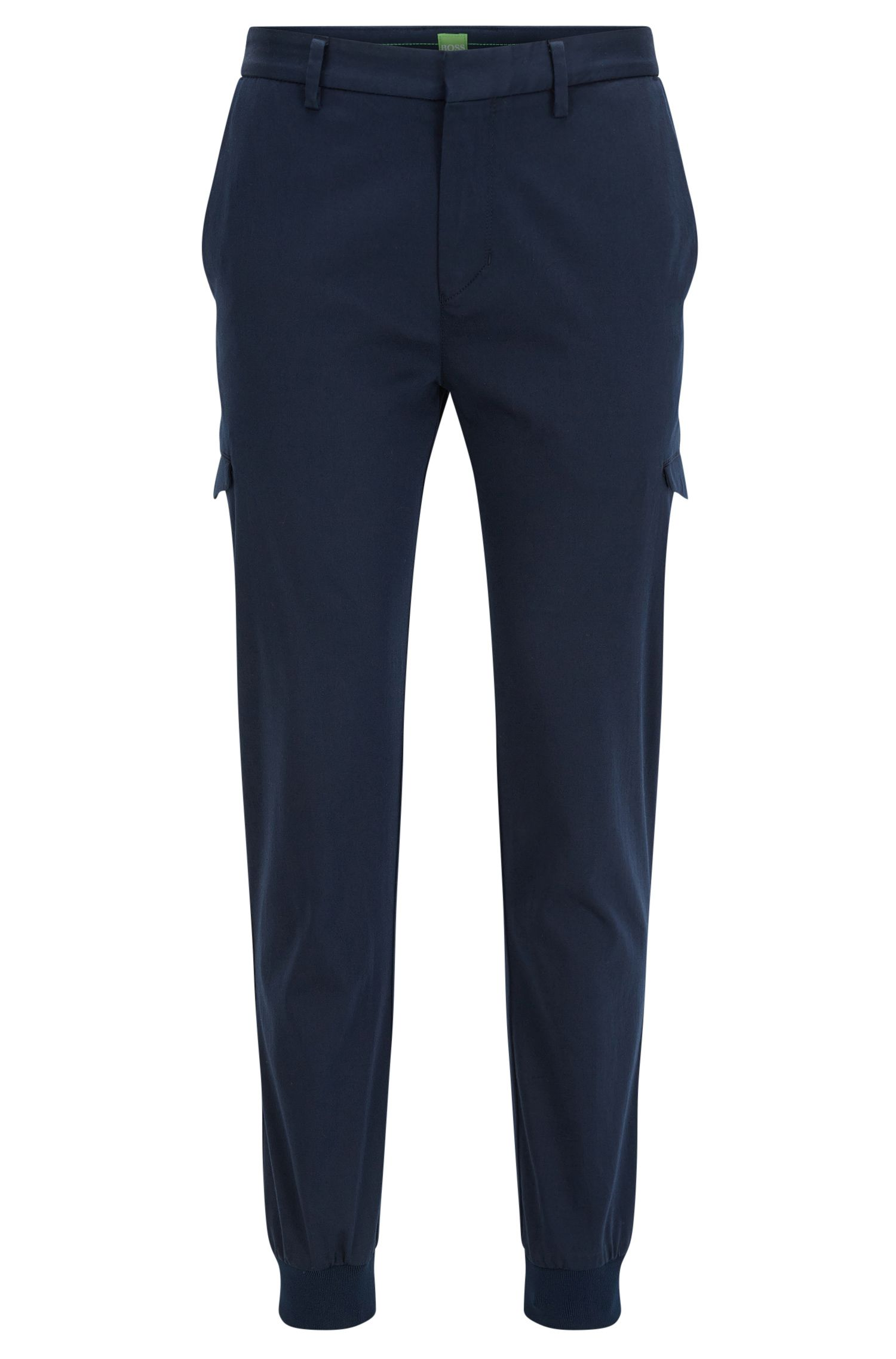Slim-fit cargo trousers in a cotton blend