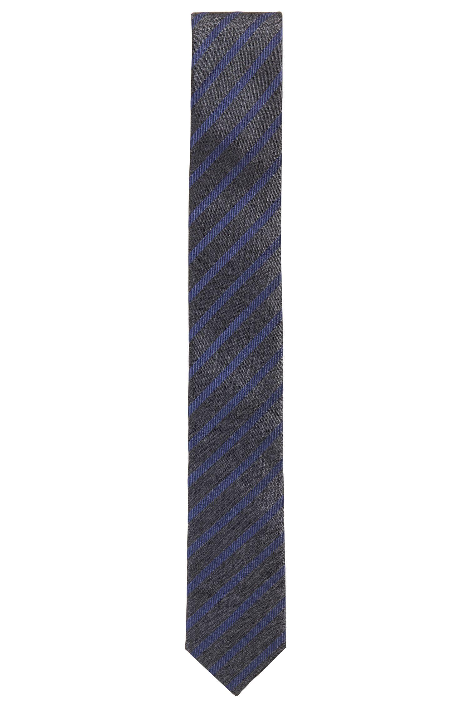 Striped silk jacquard tie