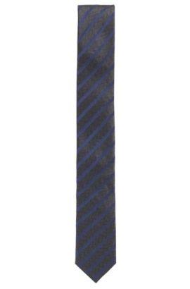 Stropdas van gestreepte zijdejacquard, Blauw