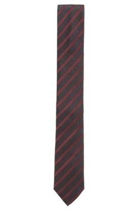 Krawatte aus Seiden-Jacquard mit Streifen-Muster, Rot