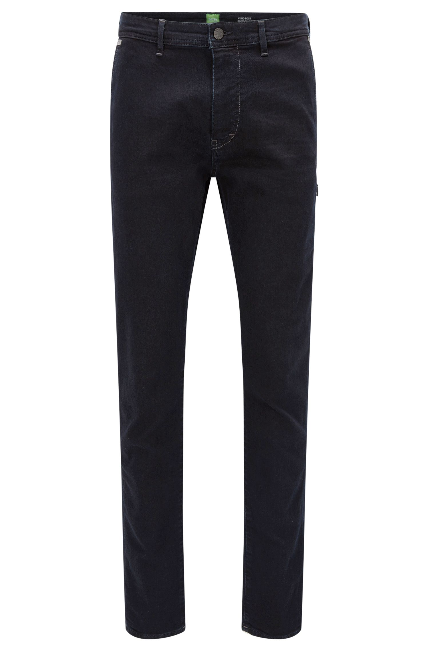 Tapered-fit jeans in power-stretch denim