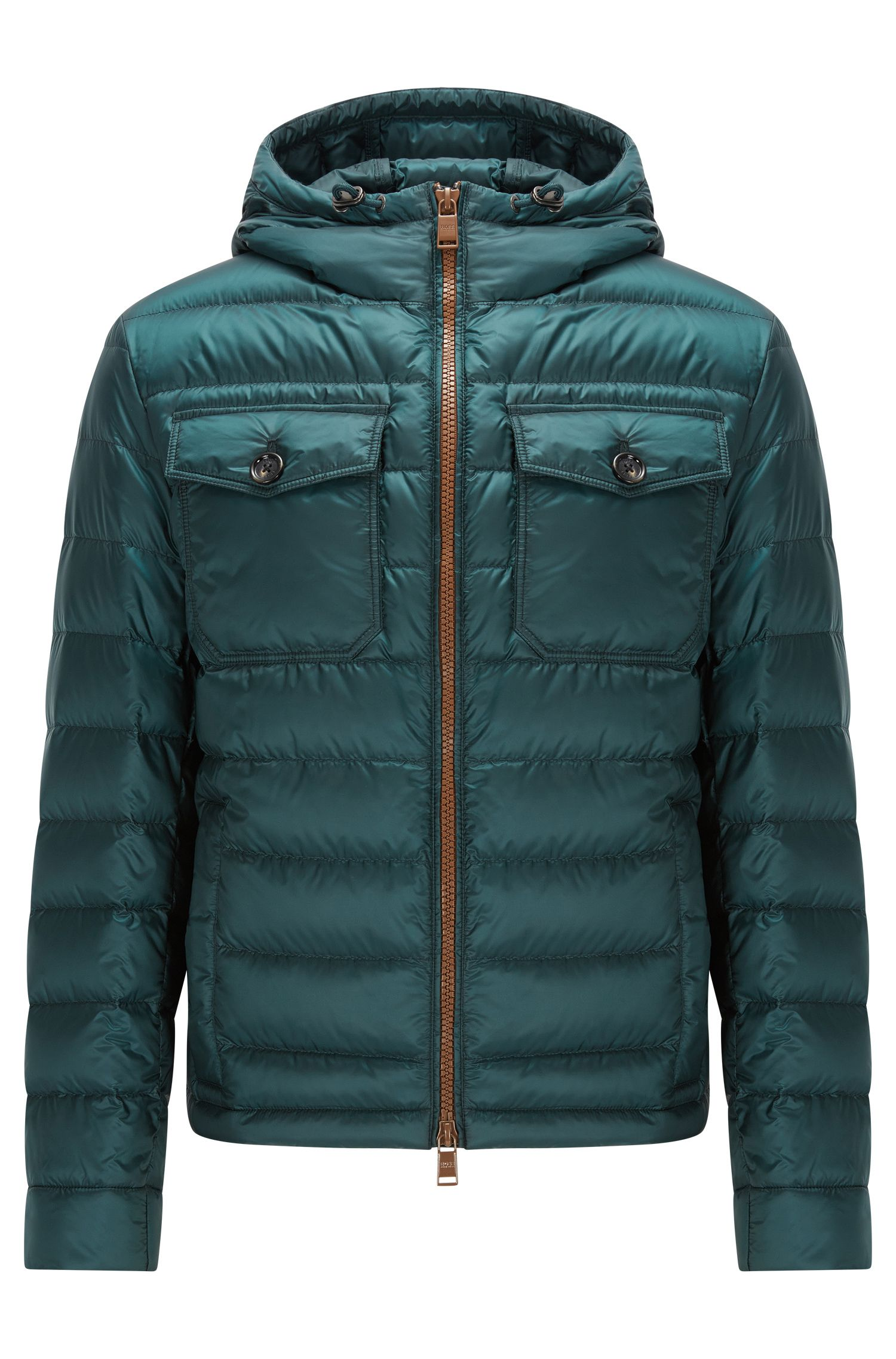 Relaxed-fit down jacket in water-repellent technical fabric