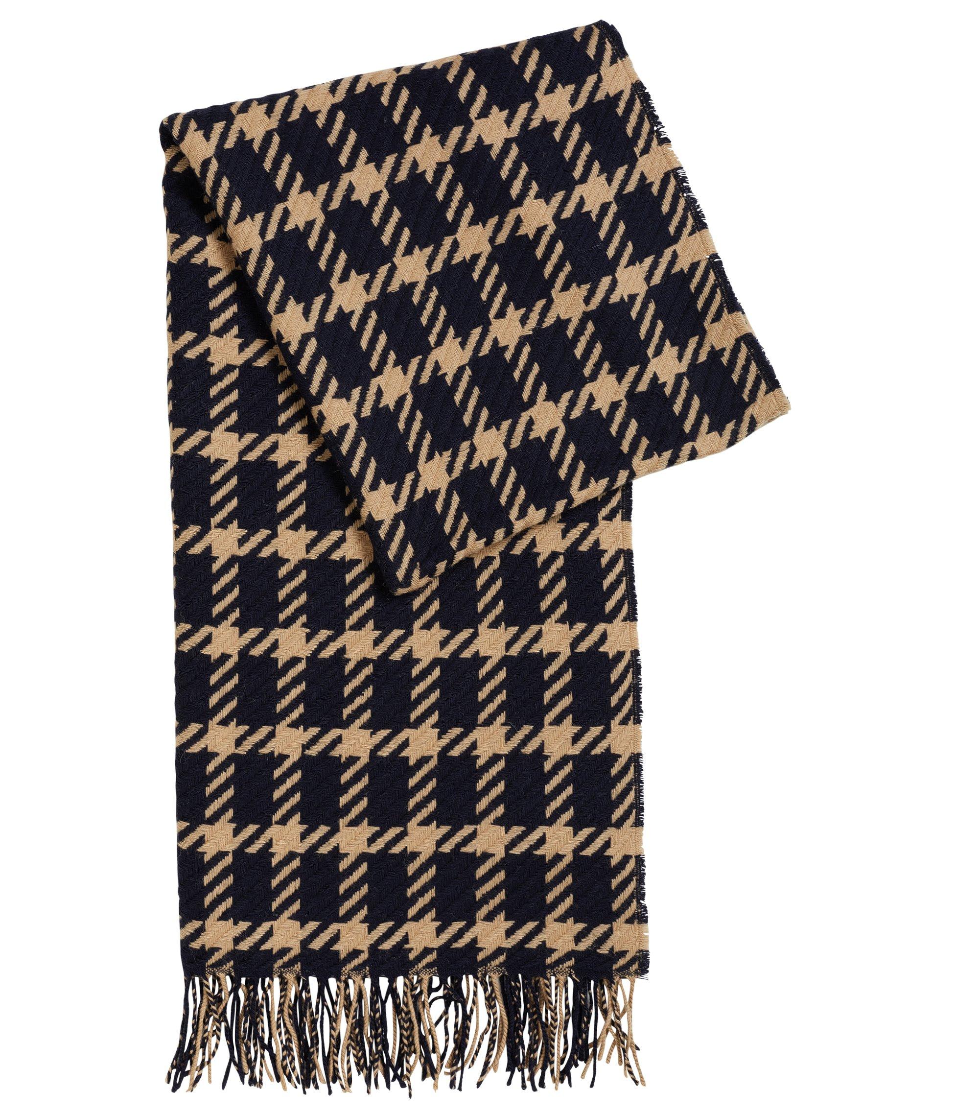 Schal aus Schurwolle mit Grafik-Muster, Gemustert