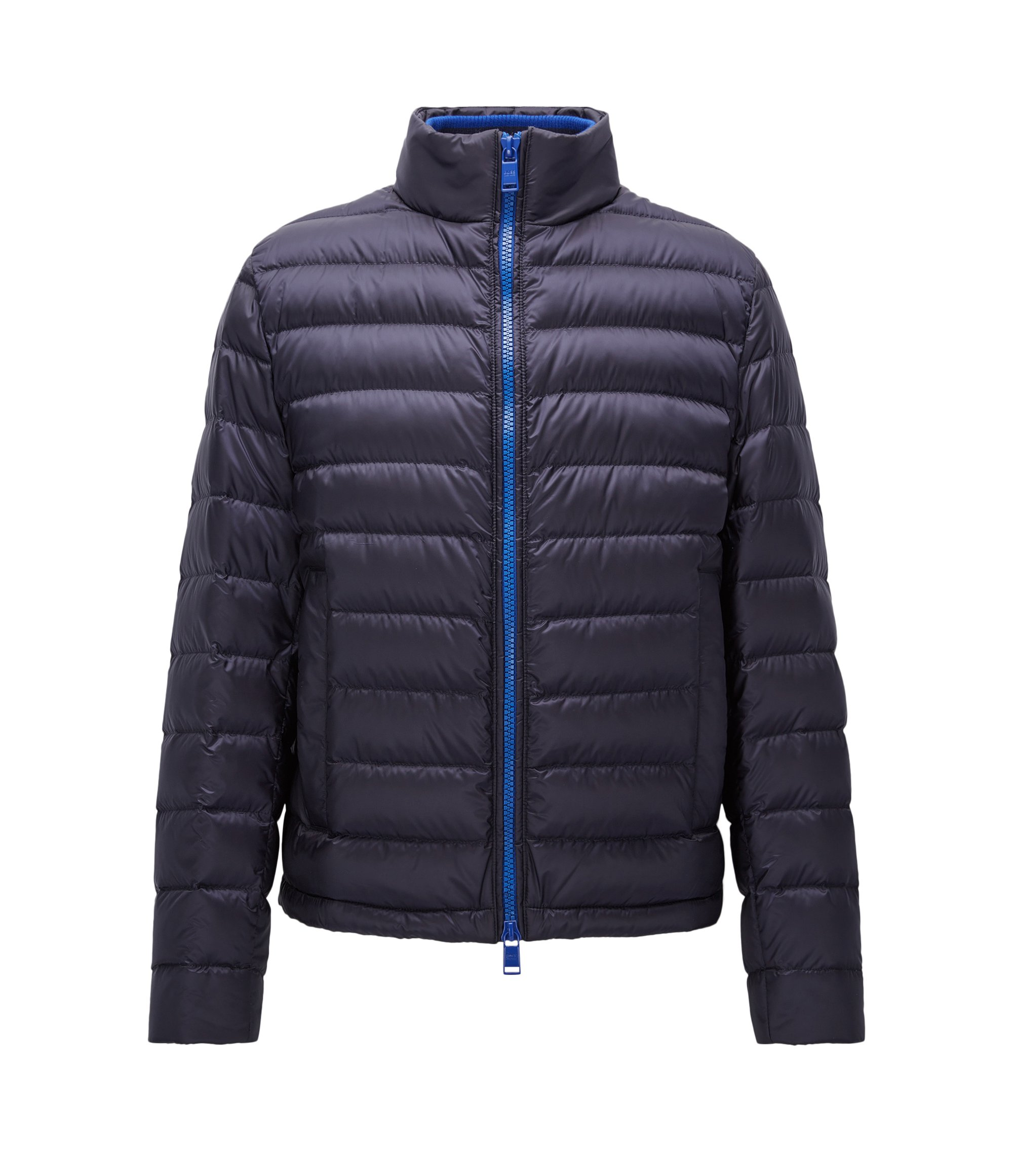 Relaxed-fit packable down jacket in water-repellent technical fabric, Dark Blue