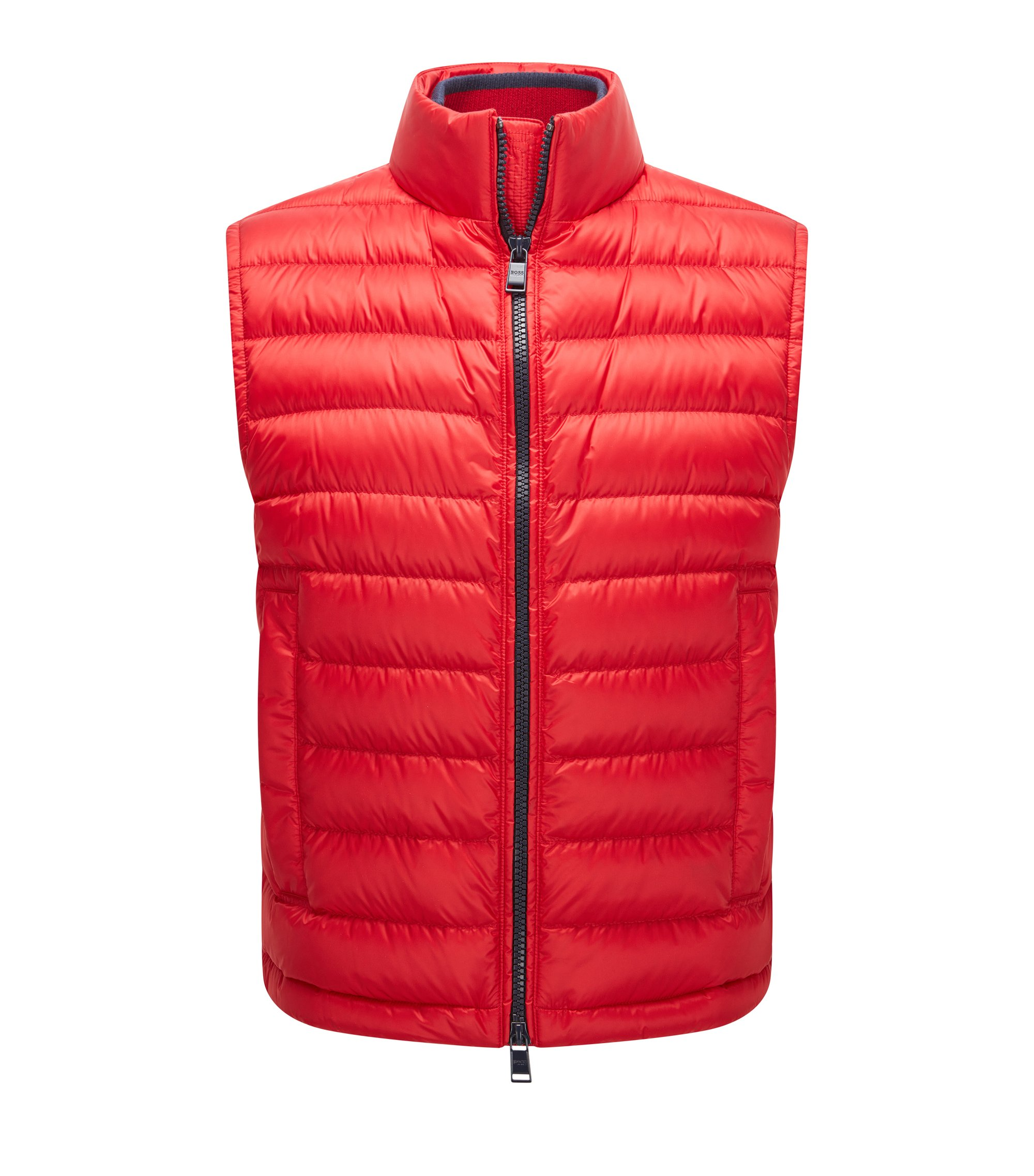 Gilet relaxed fit in tessuto tecnico idrorepellente, Rosso