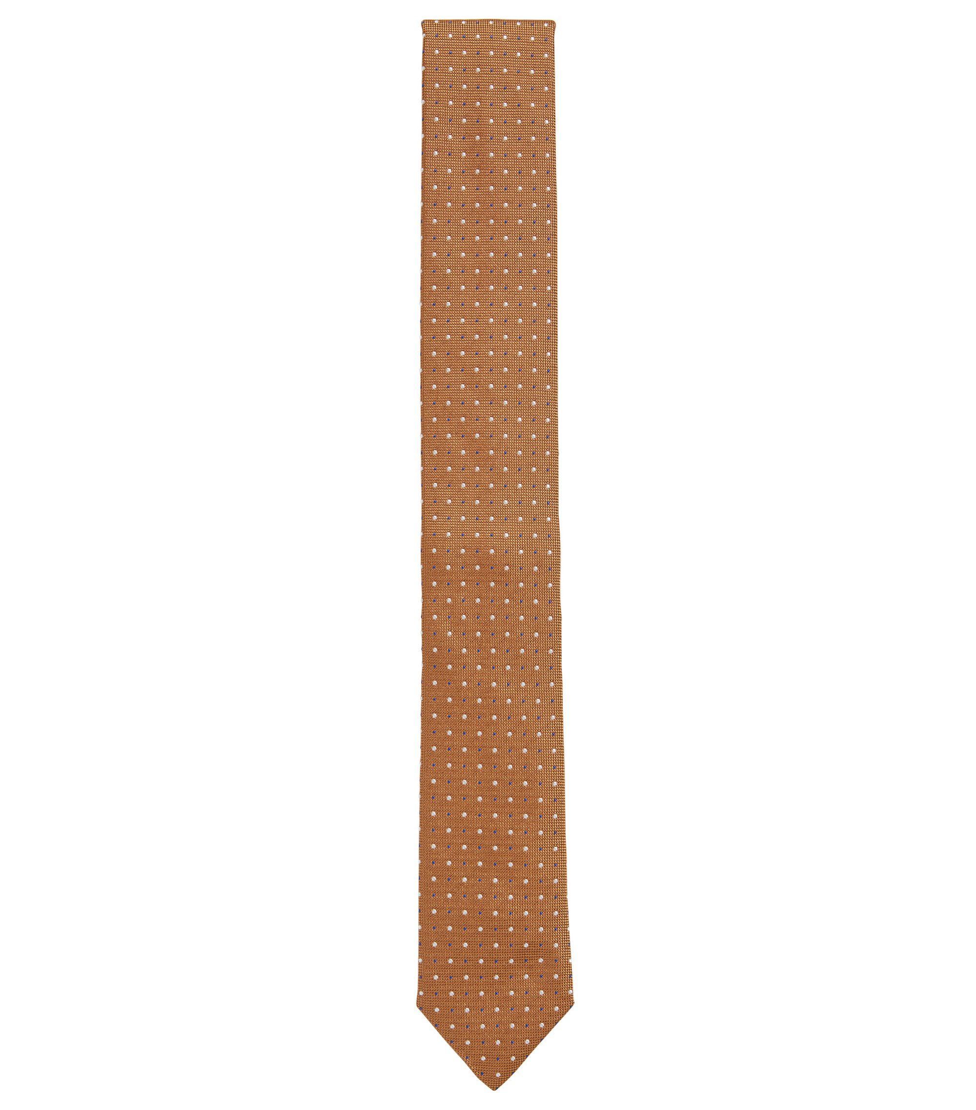 Corbata estampada en pura seda, Marrón