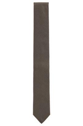 Cravate en pure soie à motif, Vert