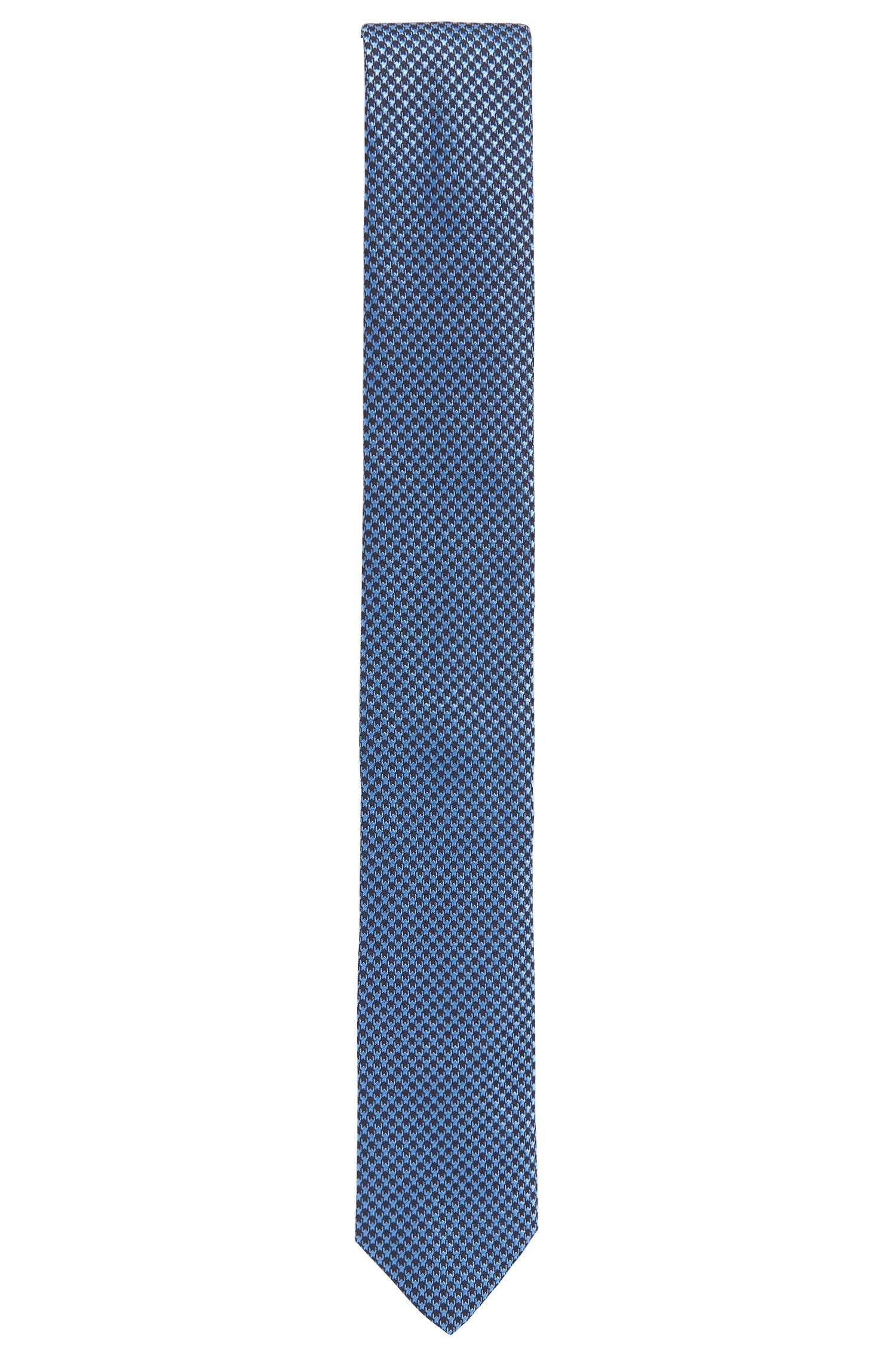Patterned pure silk tie