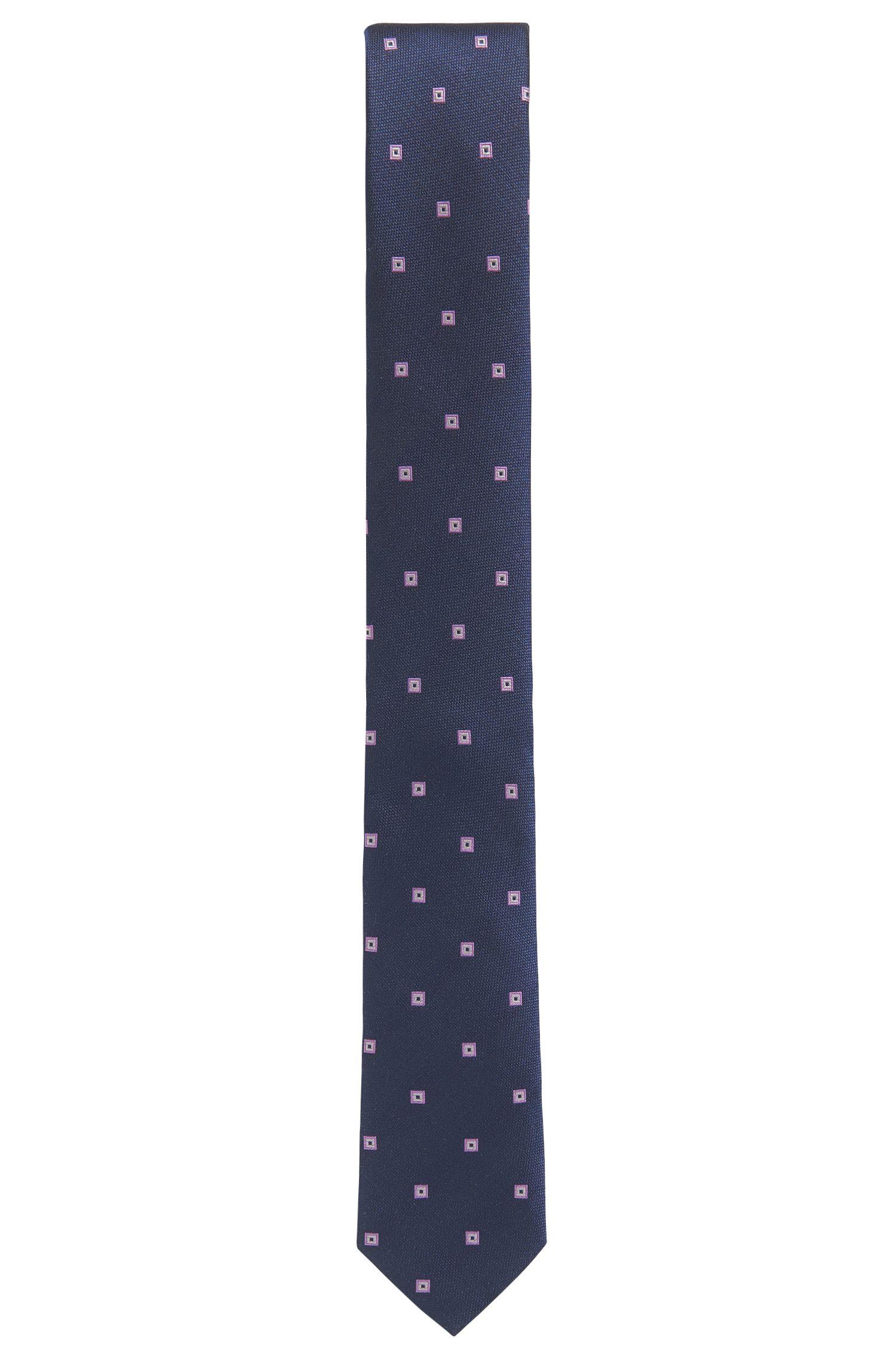 Cravate jacquard en soie à motif