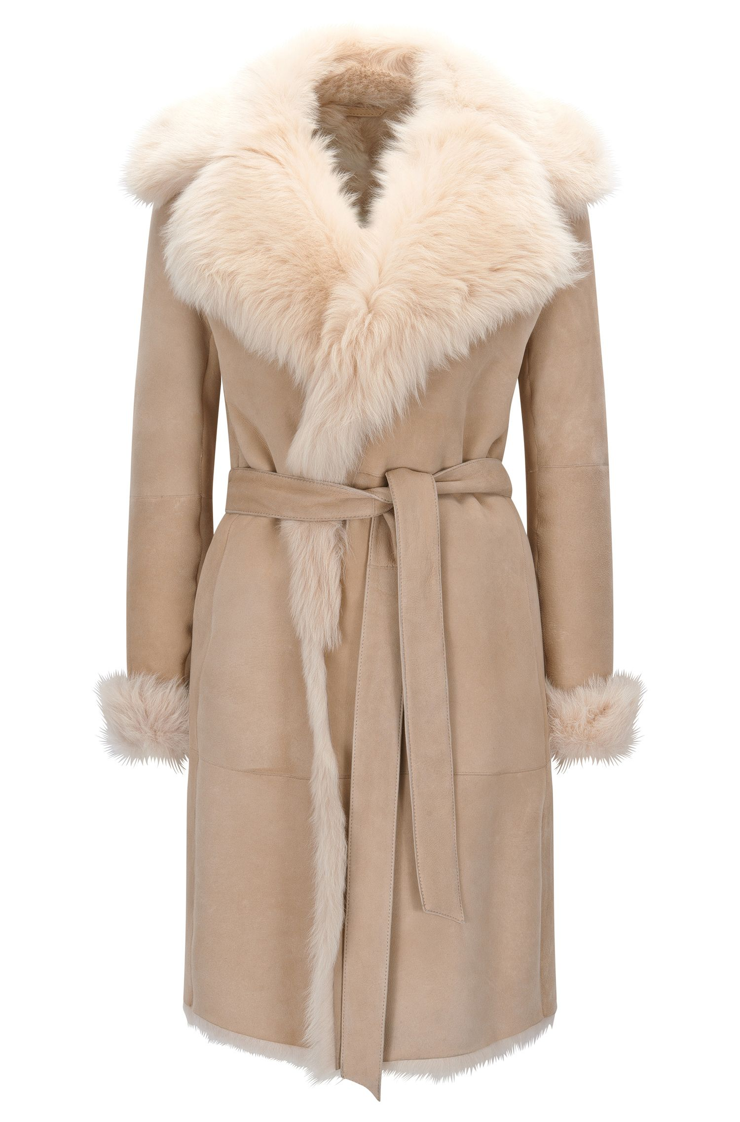 Regular-fit mantel van shearling