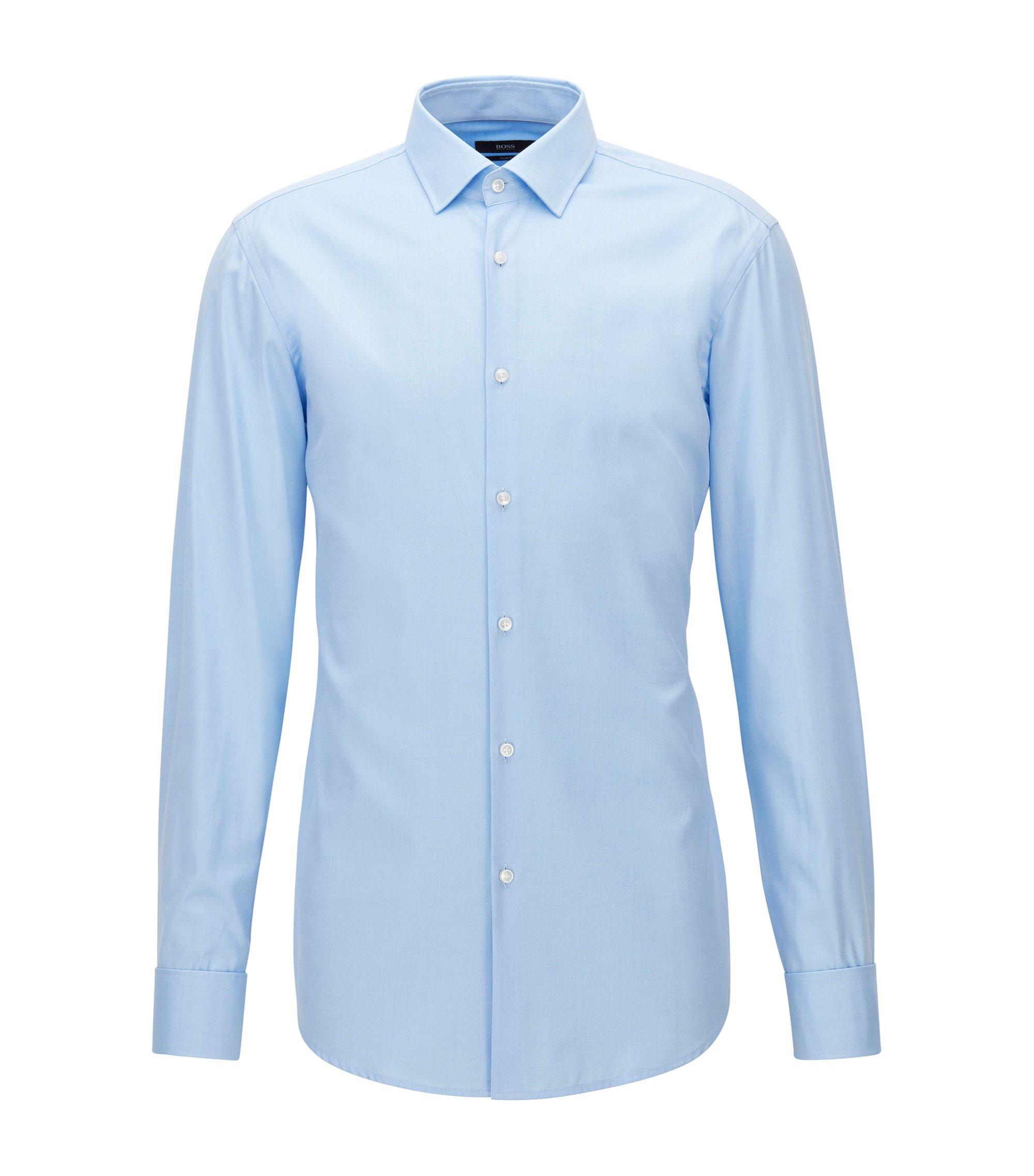 Slim-Fit Hemd aus Baumwolle mit Umschlagmanschetten , Hellblau