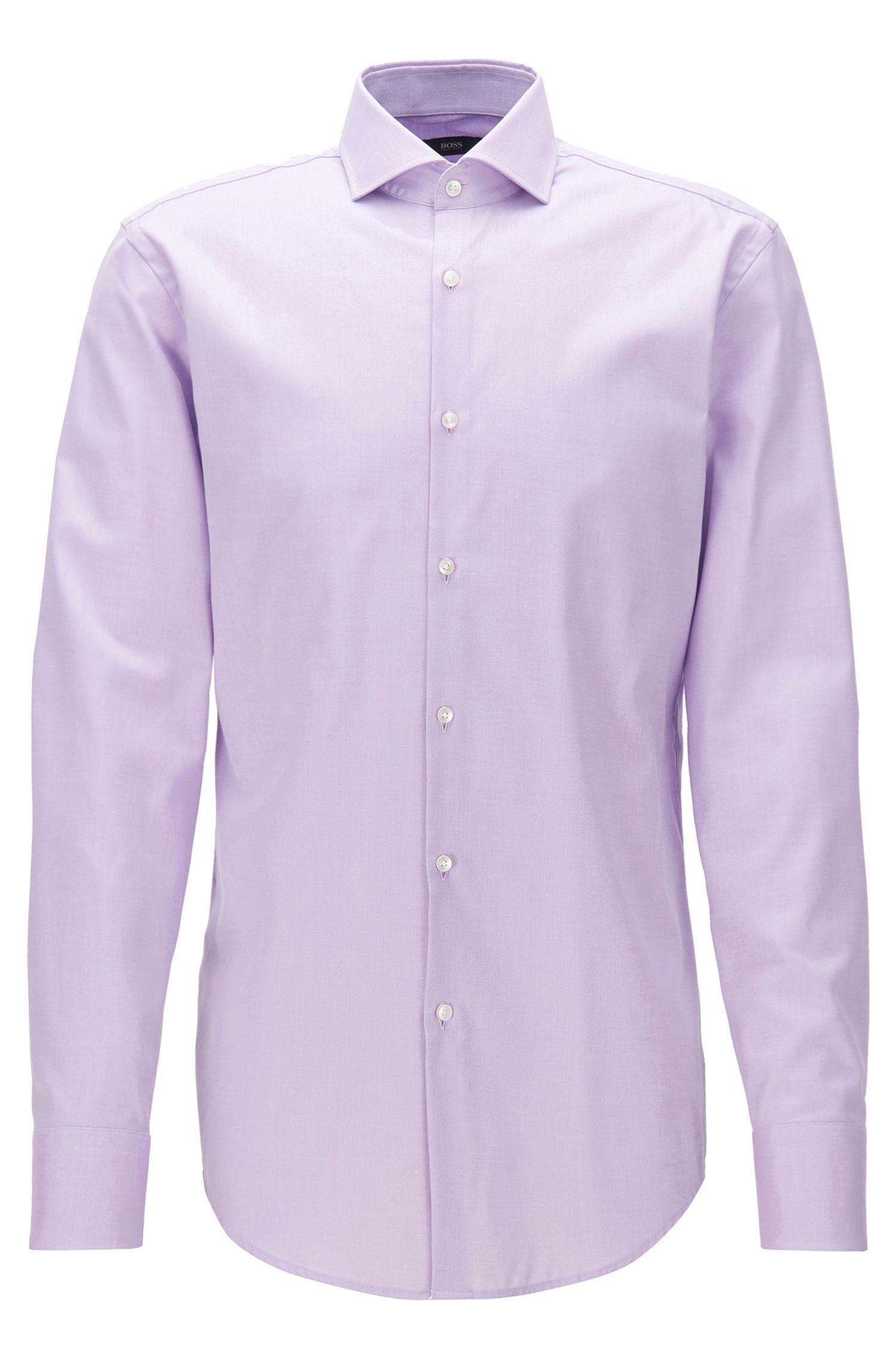Slim-Fit-Hemd aus Baumwolle mit Cutaway-Kragen