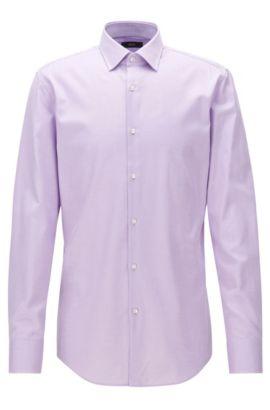 Chemise Slim Fit en twill de coton à détails contrastants, Violet clair