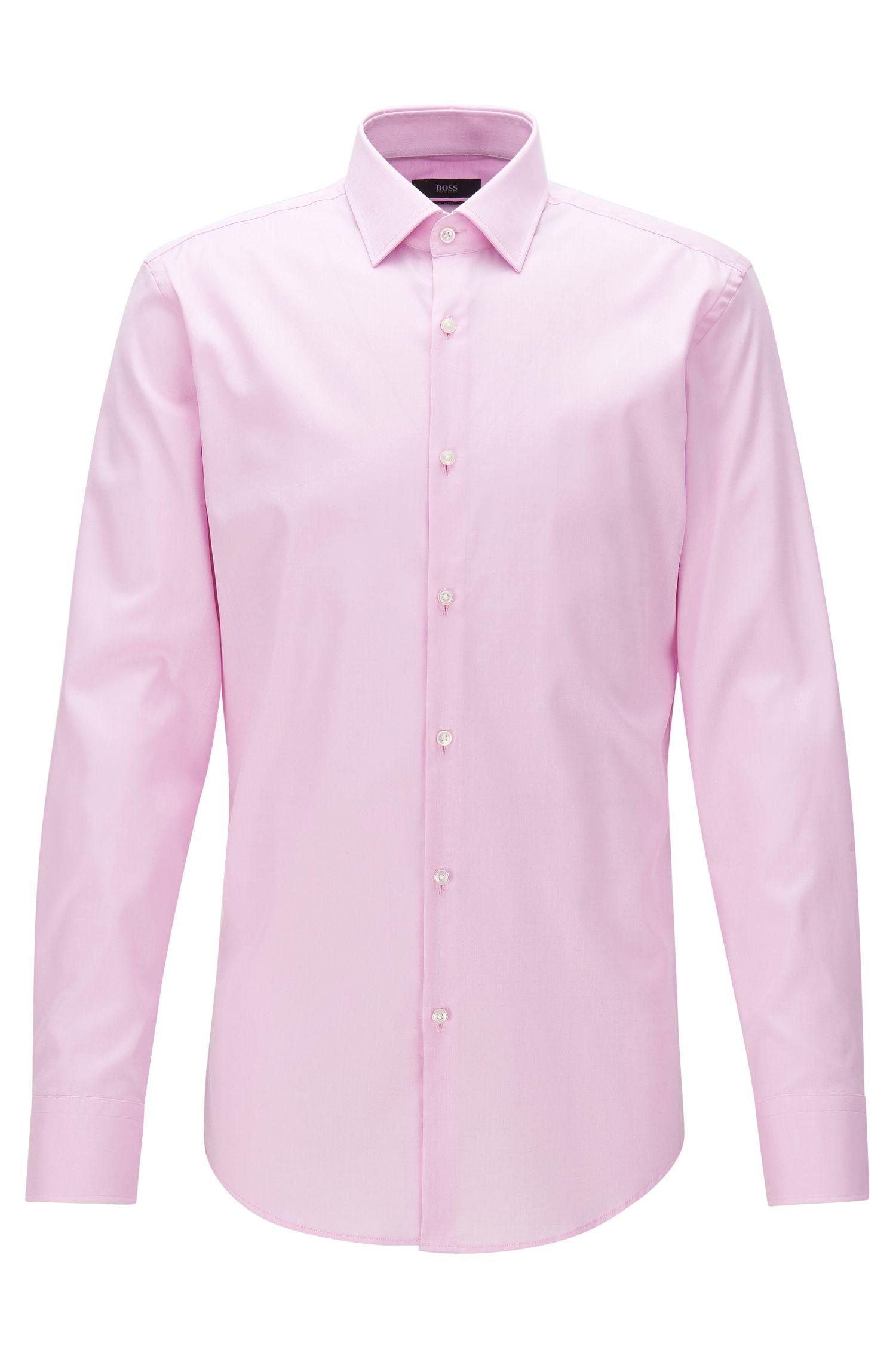 Slim-Fit Hemd aus Baumwolle mit Kontrast-Details