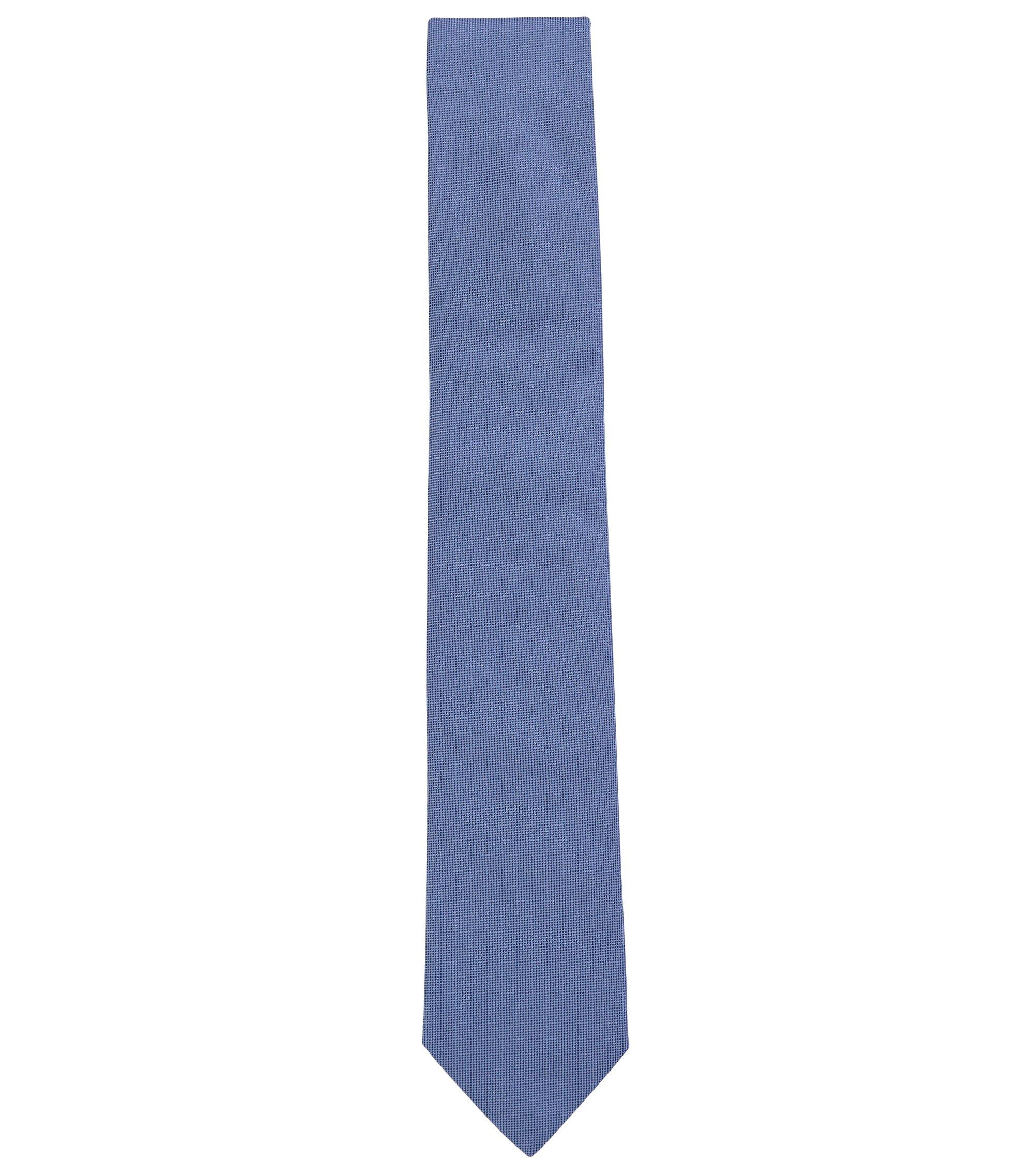 Woven pure silk tie, Hellblau