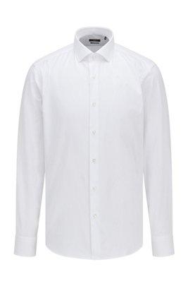 Chemise Regular Fit en twill de coton, Blanc