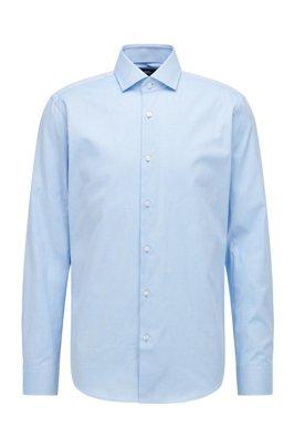 Chemise Regular Fit en twill de coton, bleu clair