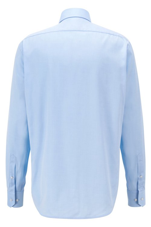 Hugo Boss - Regular-fit shirt in cotton twill with spread collar - 3
