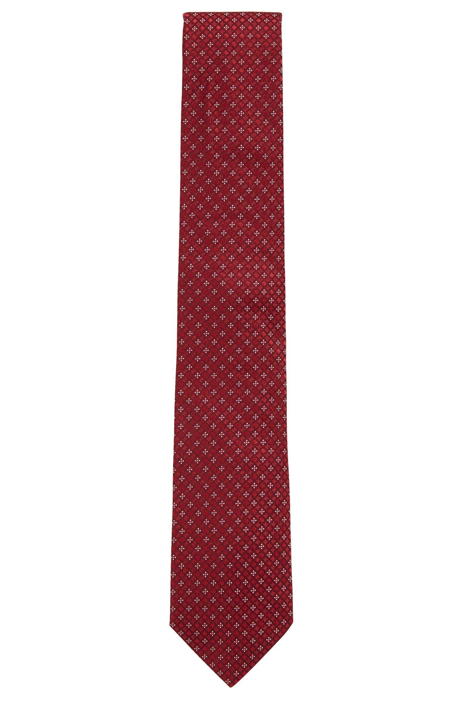 Cravate jacquard en soie à micro-motif