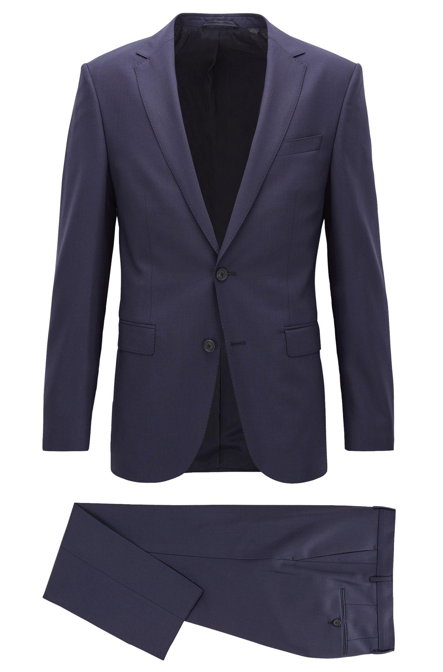 Slim-fit virgin wool suit