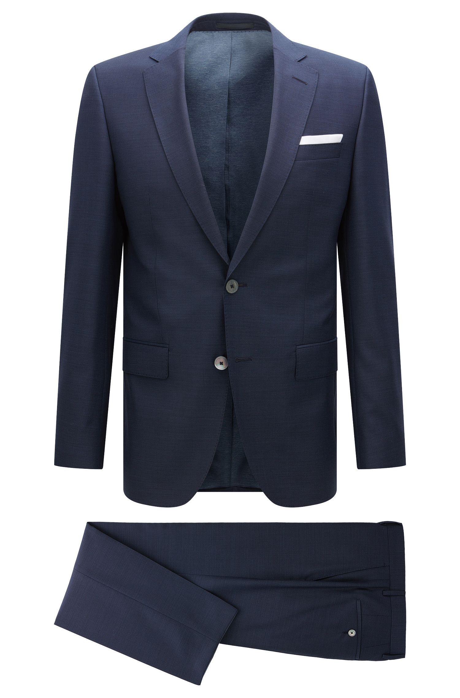 Slim-fit suit in high-twisted virgin wool