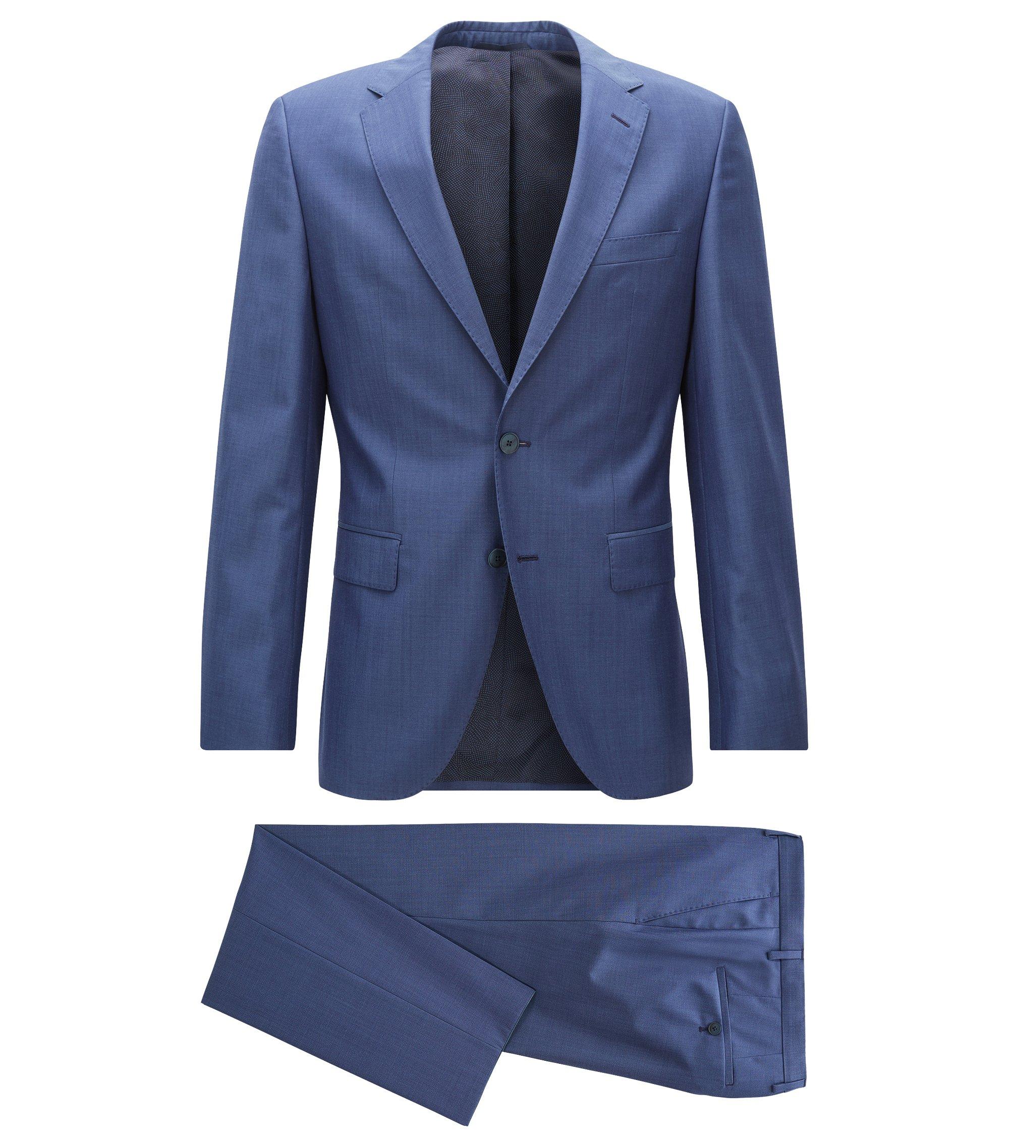 Regular-Fit Anzug aus Schurwolle, Blau