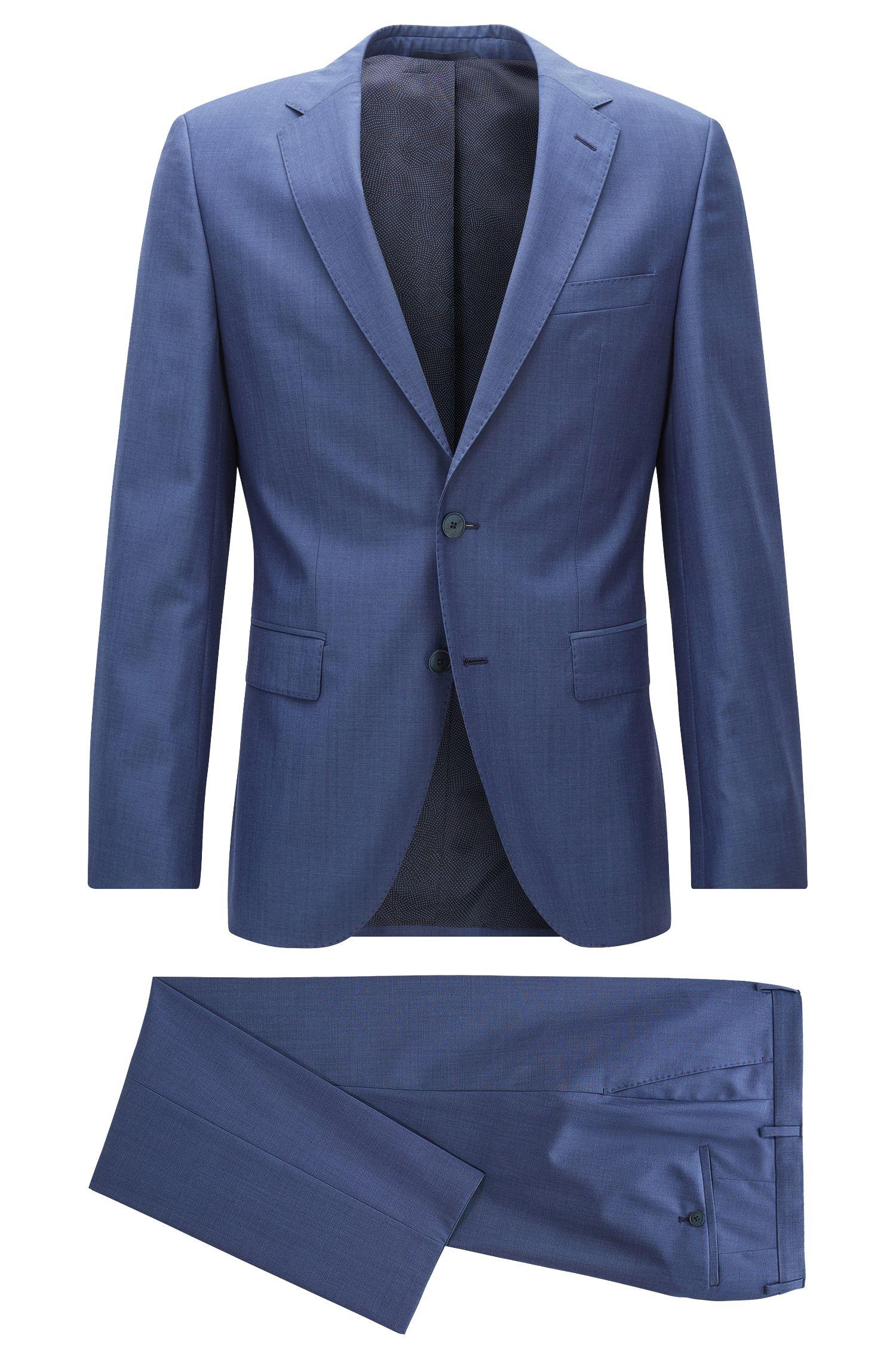 Regular-Fit-Anzug aus Schurwolle